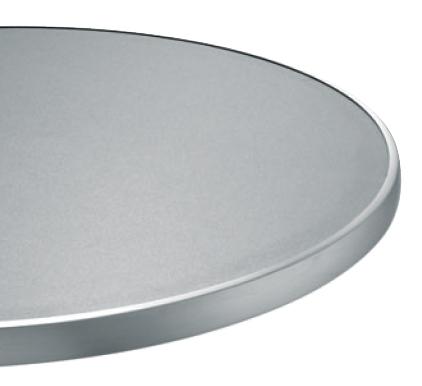 plateau de table inox cercl vibr. Black Bedroom Furniture Sets. Home Design Ideas