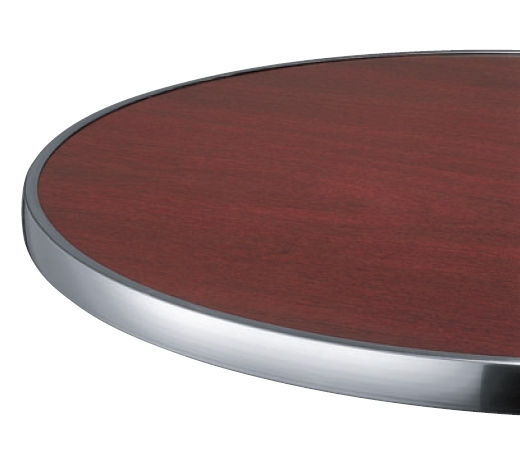 Plateau de table stratifi cercl alu - Plateau de table stratifie ...