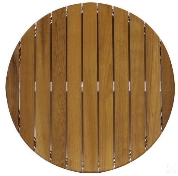Plateau de table teck rond for Plateau rond en bois pour table