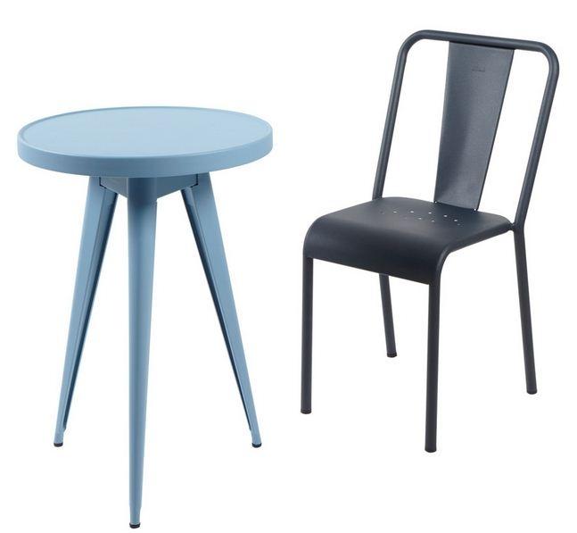 Table gu ridon 55 tolix for Table exterieur tolix