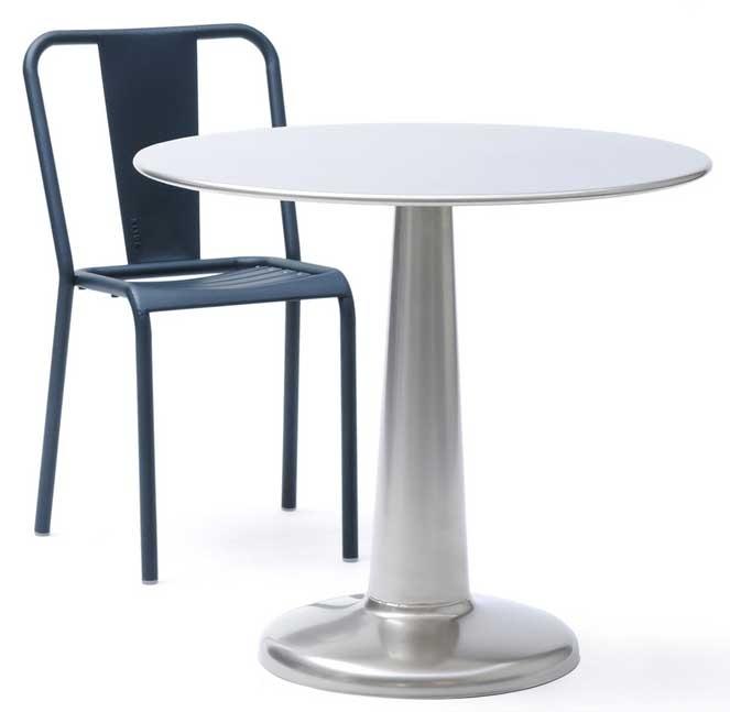 Table gu ridon g tolix for Table exterieur tolix