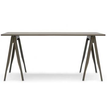 Table plateaux tole embouti tolix for Table exterieur tolix